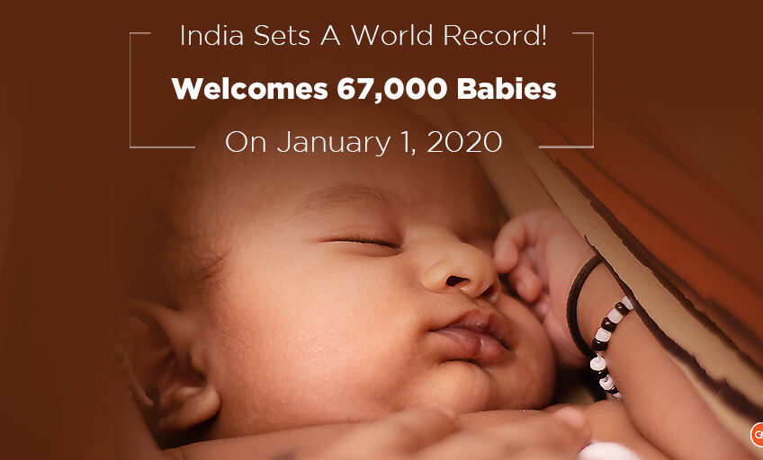 India welcomes 67000 babies this new year, the world highest